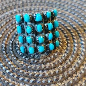 Ring Native American signed turquoise